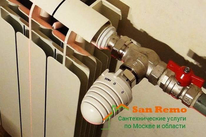 Как произвести установку терморегулятора на радиатор отопления