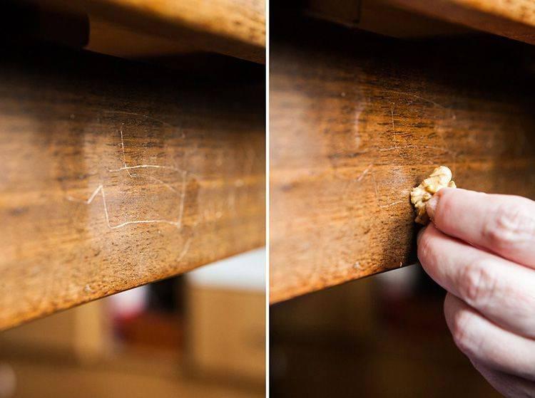 Как убрать царапины с полированной мебели и мебели из дерева