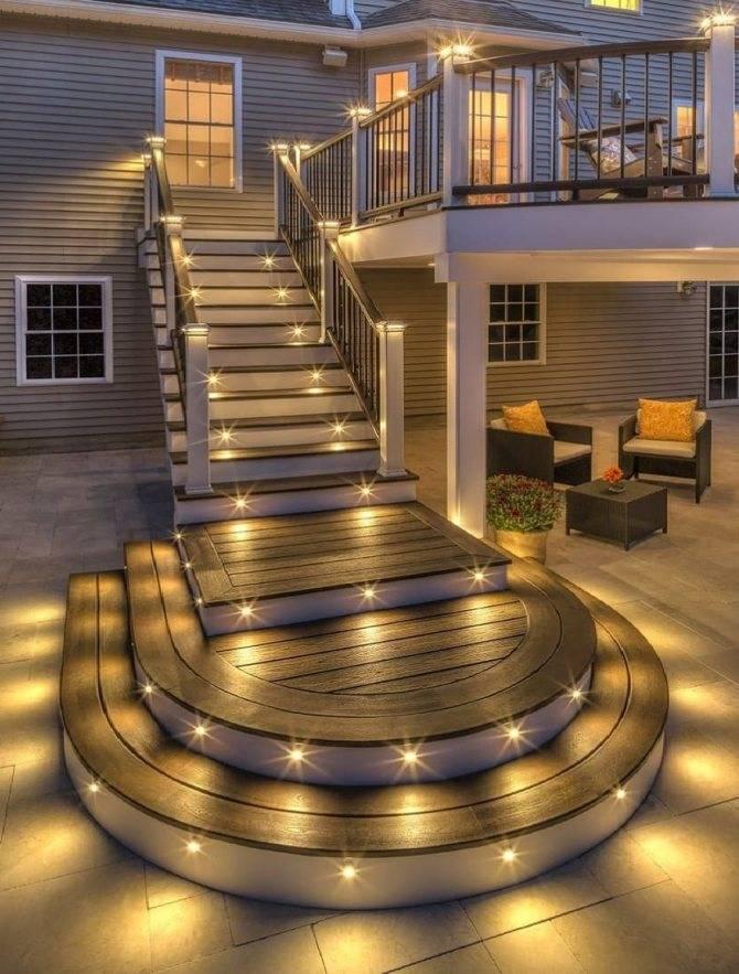Освещение фасада частного дома: основные виды и приемы подсветки