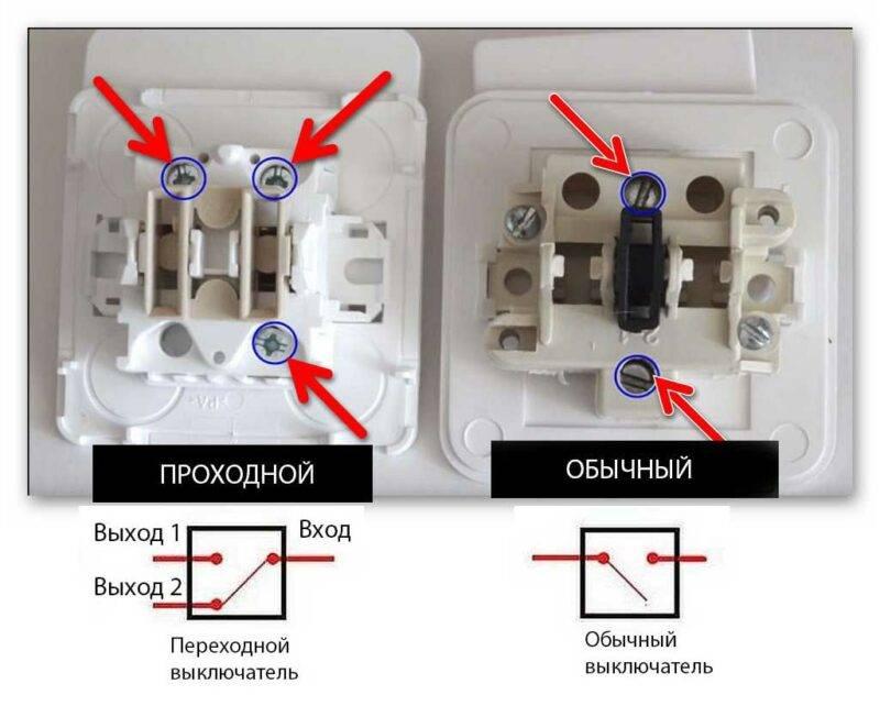 Подключение перекрёстного выключателя. перекрёстный выключатель: для чего нужен и как его подключить - все о строительстве