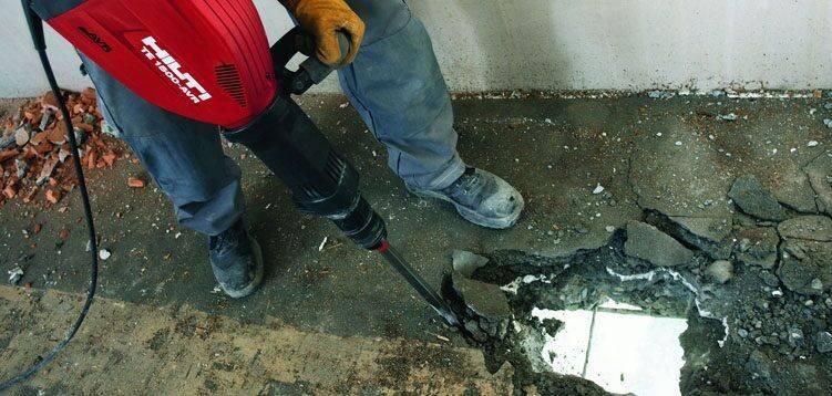 Демонтаж бетонной стяжки — излагаем обстоятельно