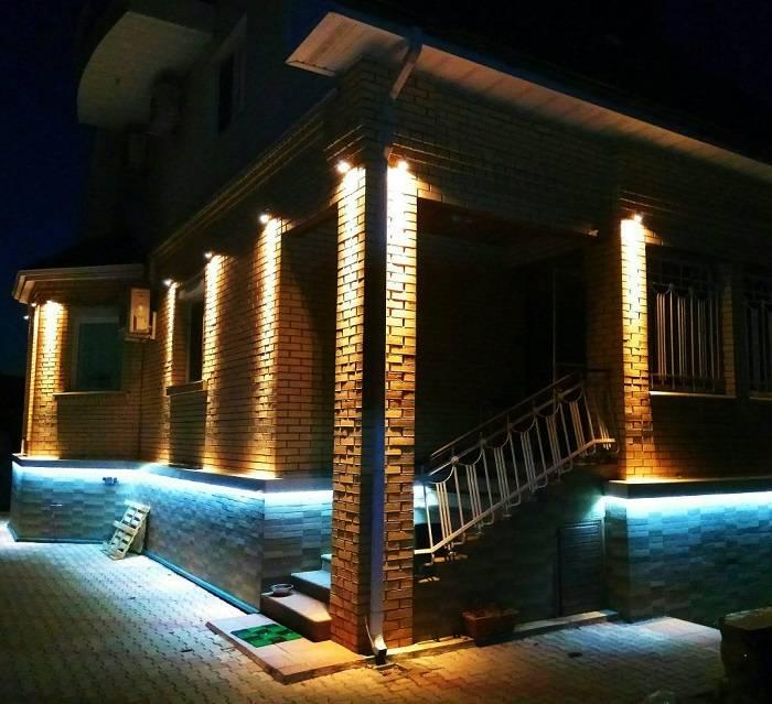 Как сделать наружное освещение частного дома снаружи у придомовой территории частного дома: обзор +видео