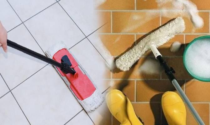 Чем отмыть плитку на полу от грязи — как очистить кафельную напольную плитку от въевшейся грязи