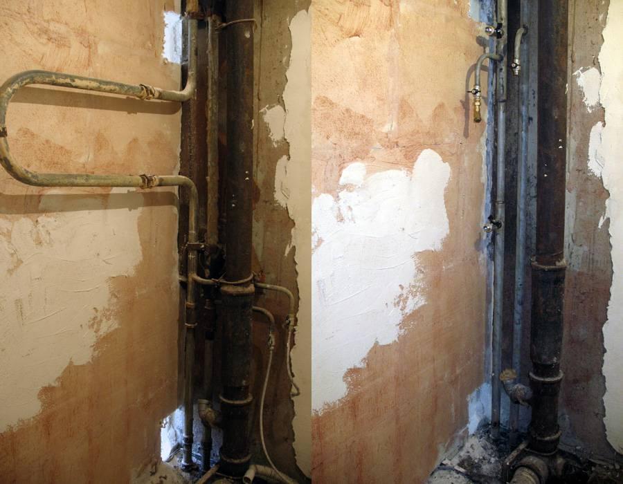 Можно ли перенести полотенцесушитель на другую стену? перенос полотенцесушителя на другую стену в ванной: монтажный инструктаж
