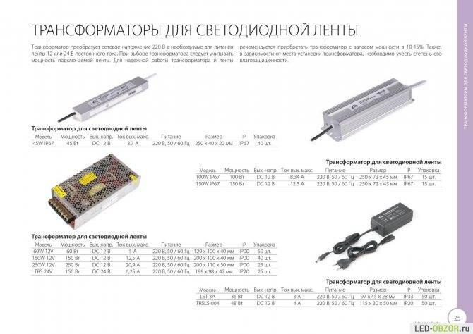 Выбор блока питания для светодиодной ленты