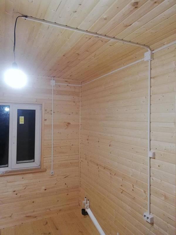 Электропроводка в деревянном доме.