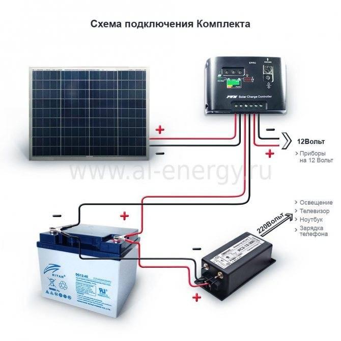 Все о аккумуляторах для солнечных панелей: схема подключения акб, какой выбрать