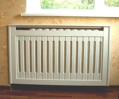 Декоративные экраны для радиаторов отопления: размеры, фото