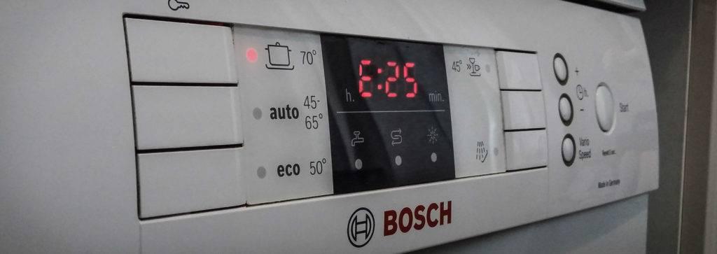 Ошибка е09, е9 в посудомоечной машине bosch - что делать? | рембыттех