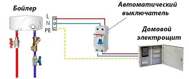 Выбор узо/дифавтомата для проточного водонагревателя (7кв) без заземления