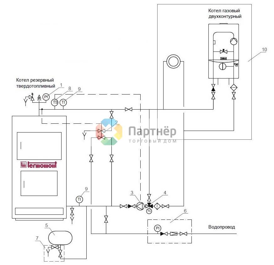 Схема обвязки электрокотла отопления