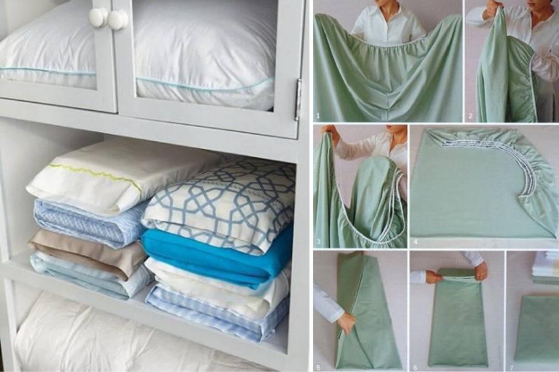 Как организовать хранение покрывала и постельного белья?