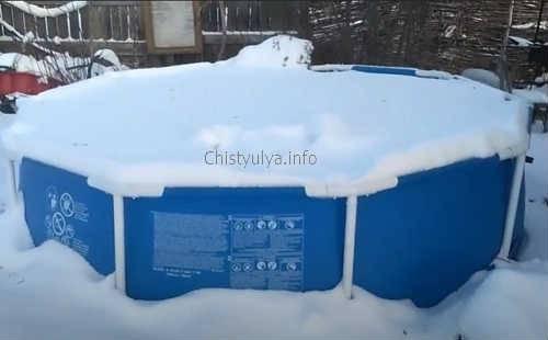 Можно оставлять каркасный бассейн на зиму? как каркасные сборные бассейны с жесткими бортами переносят зиму - morevdome.com