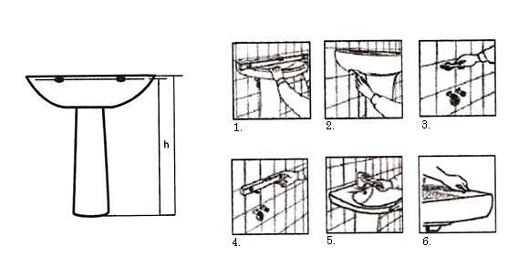 Крепление раковины к стене в ванной: технология монтажа пошагово, как прикрепить раковину,крепёж, как закрепить раковину.