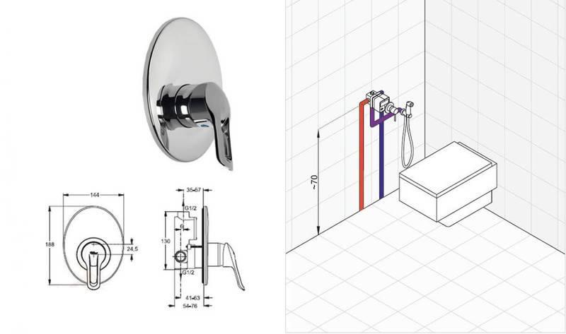 Как самостоятельно установить смеситель скрытого монтажа (в стену)?