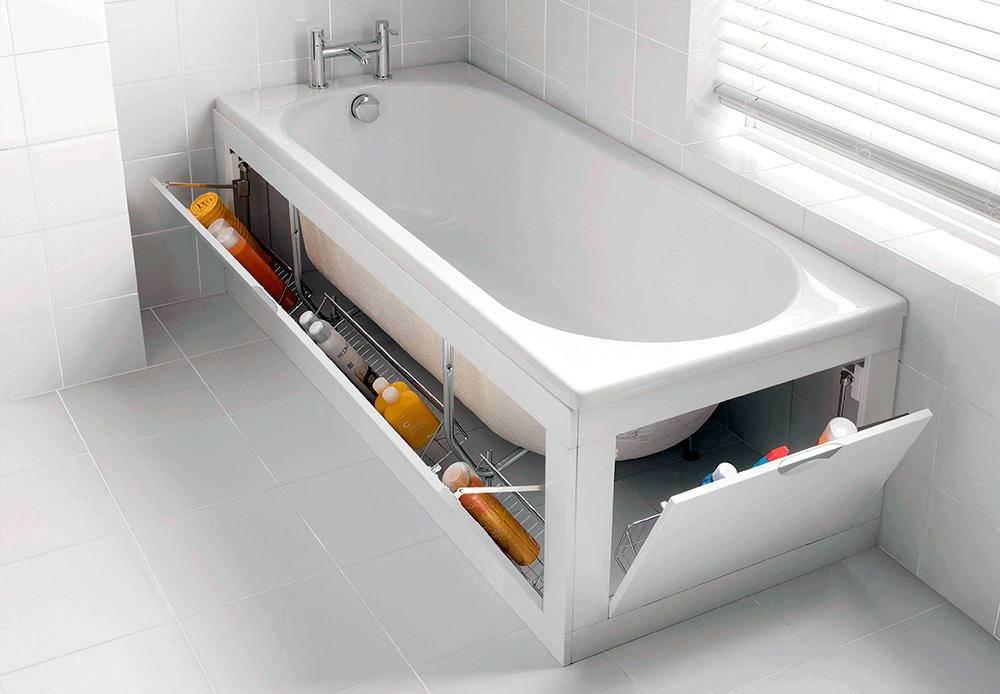 Экран под ванну: виды, преимущества использования, фото. советы по выбору размера, дизайна (обзор самых красивых моделей)