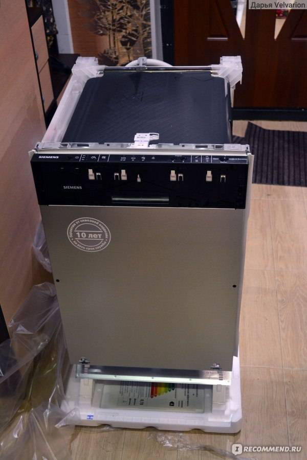 Посудомоечная машина siemens sr64e003ru: особенности встраиваемого вида