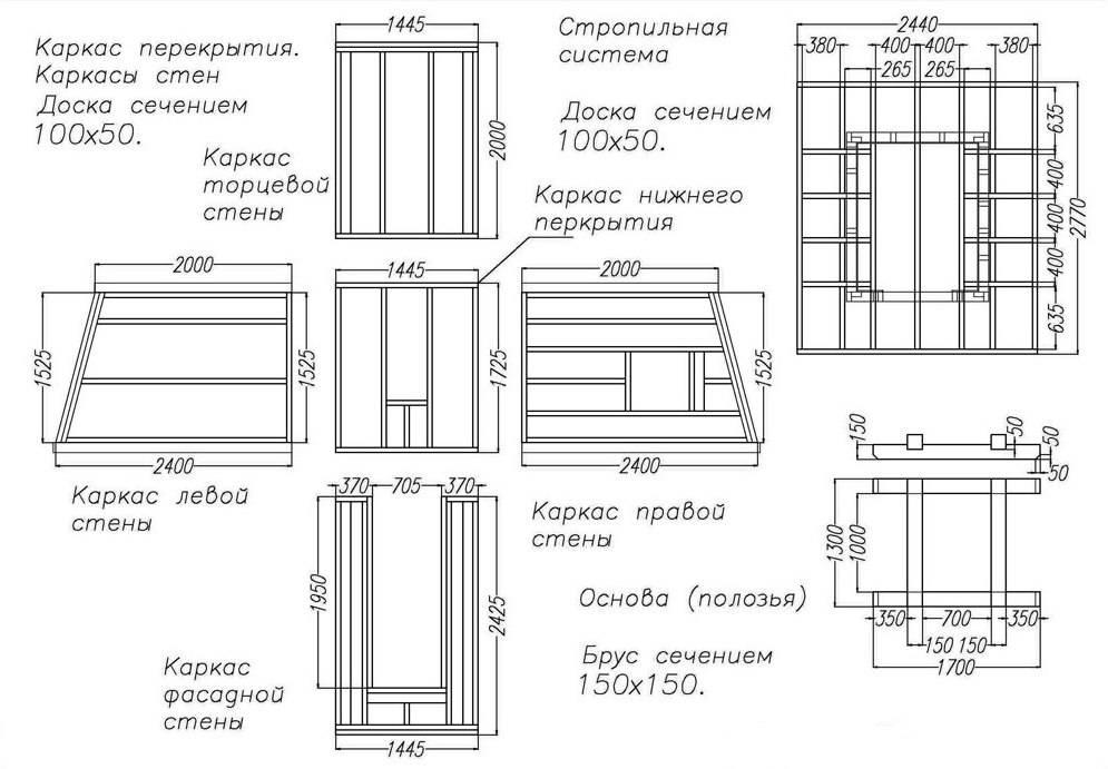 Проекты, чертежи и схемы дачного туалета