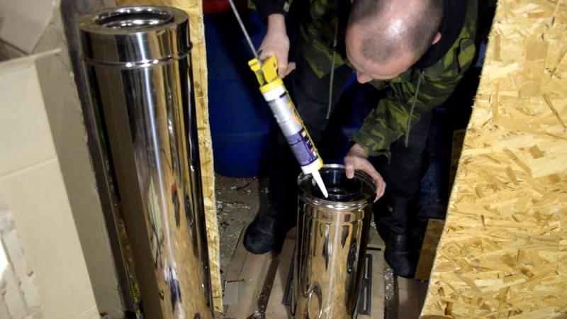 Как собрать и установить дымоход из сэндвич труб
