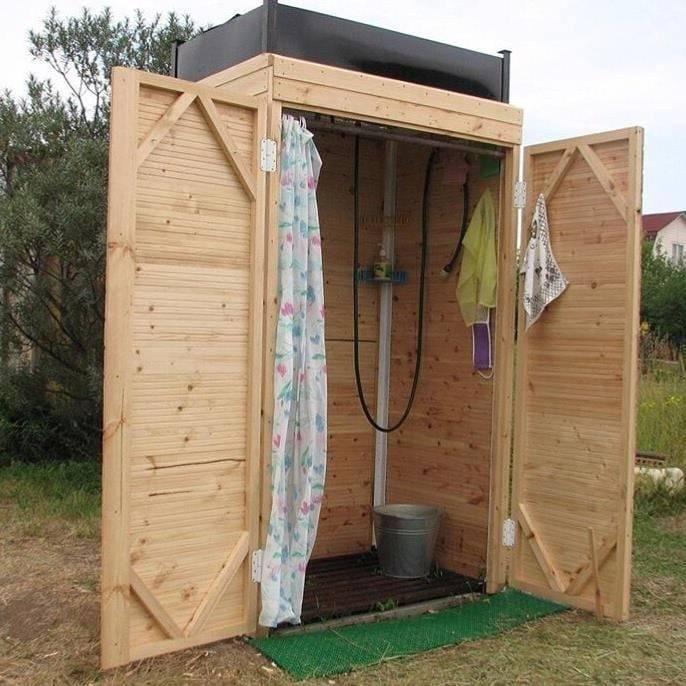 Летний душ своими руками – пошаговая инструкция строительства душевой, от простого к сложному