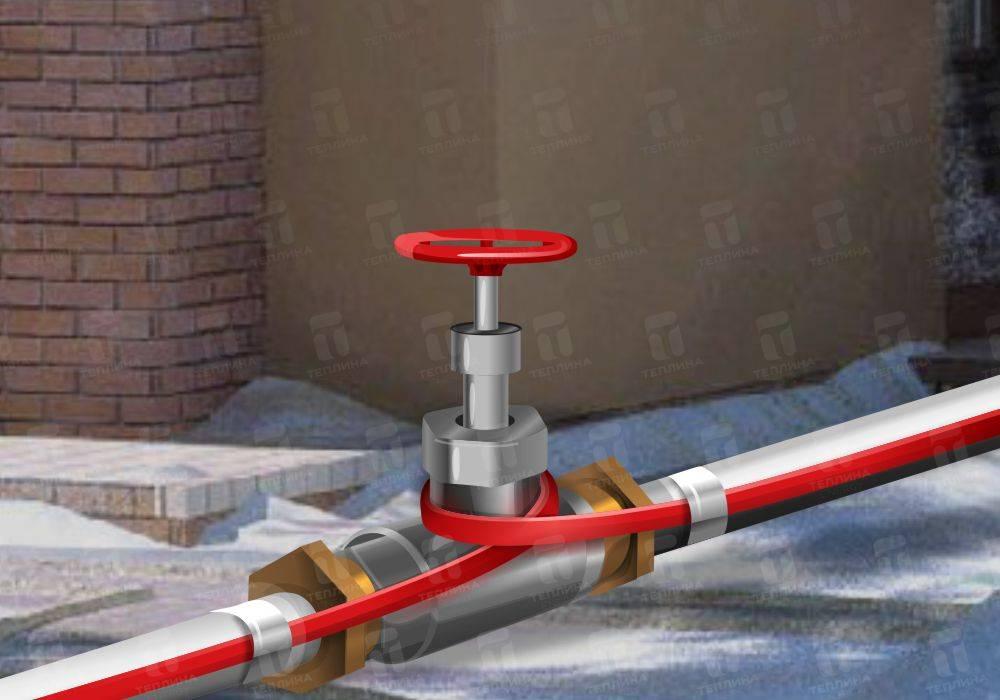 Обогрев трубопроводов: электро обогрев водяных труб для подачи воды в системе трубопровода