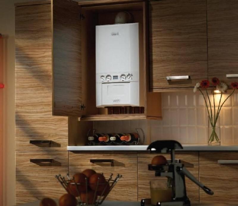 Как спрятать газовую колонку на кухне - идеи по маскировке с фото