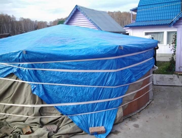 Каркасный бассейн зимой – оставить на улице или как хранить