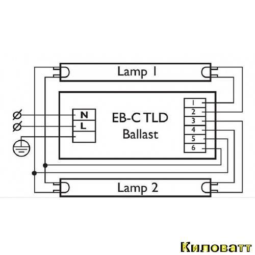 Схемы подключения люминесцентных ламп | ehto.ru