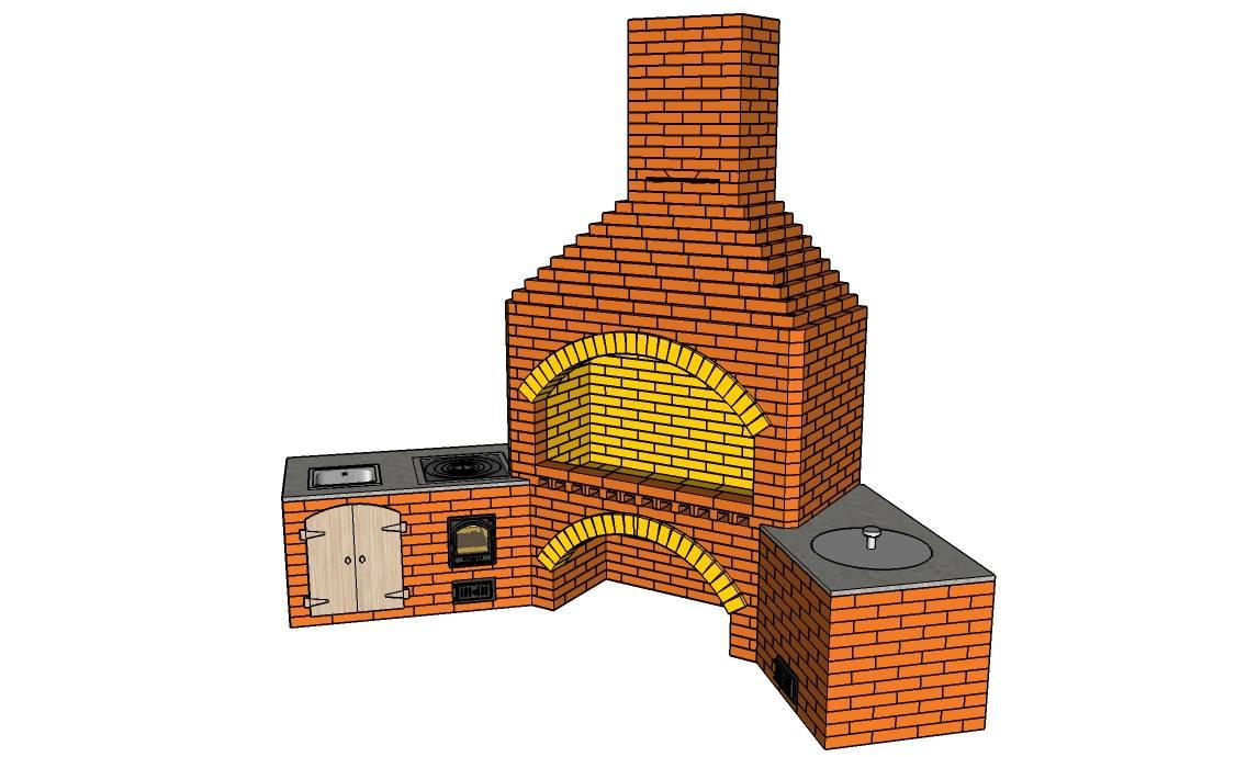 Барбекю своими руками: как сделать уличную печь из кирпича на даче, её строительство во дворе, самый лучший тип садовой постройки