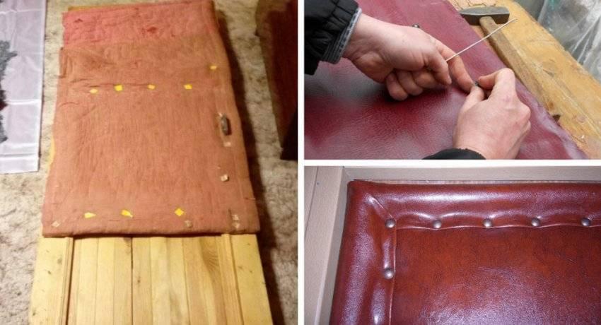 Как утеплить входную деревянную дверь своими руками – обивка двери дермантином + фото-видео