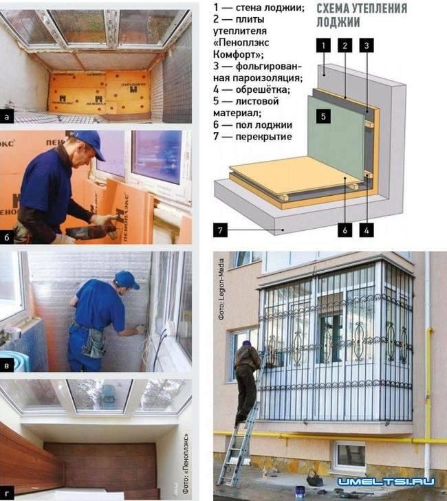 Как утеплить балкон изнутри своими руками — пошаговая инструкция с видео