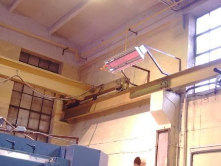 Газовые промышленные инфракрасные обогреватели