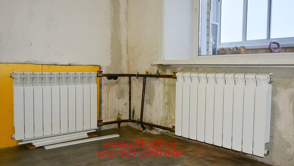 Правильное подключение радиаторов отопления при двухтрубной системе - всё об отоплении