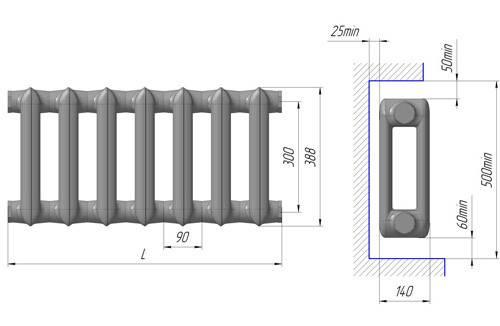 Технические характеристики и особенности чугунных радиаторов мс-140-500 разных производителей