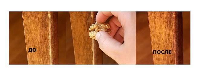 Как избавиться от царапин на мебели