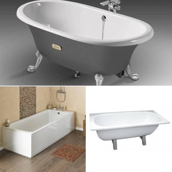 Какая ванна лучше чугунная, акриловая или стальная: 10 критериев выбора