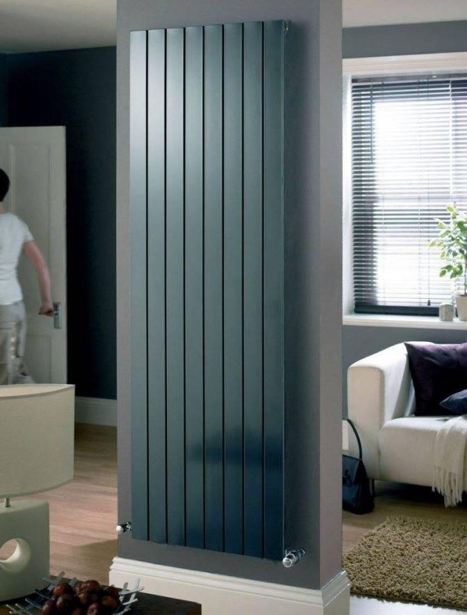 Вертикальные батареи отопления: виды длинных радиаторов, преимущества