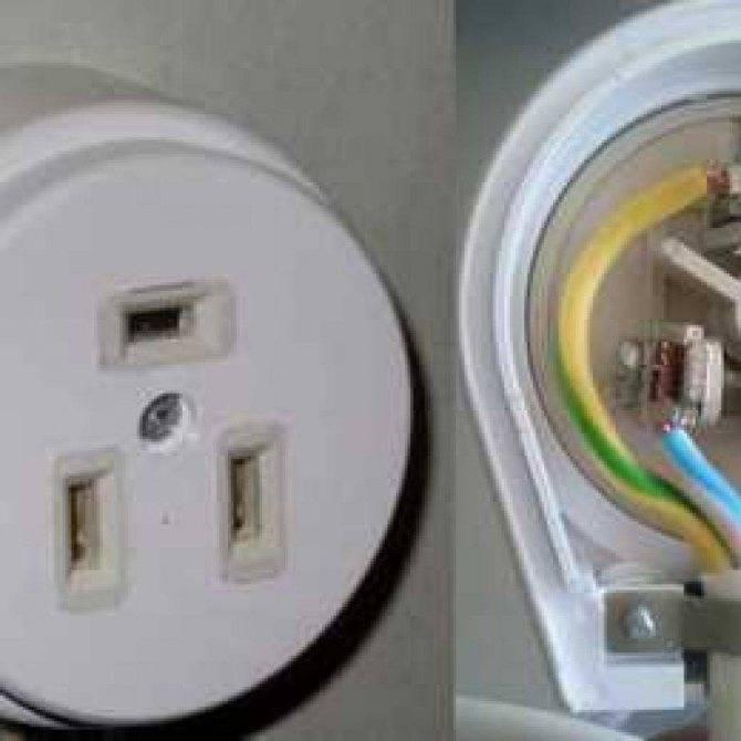 Розетка для электроплиты: подключение силового устройства - точка j