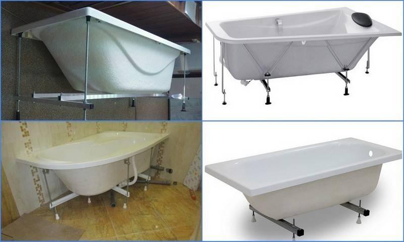 Каркас для ванной: руководство по изготовлению каркаса для акриловой и чугунной ванны, сборка, обзор моделей, 110 фото