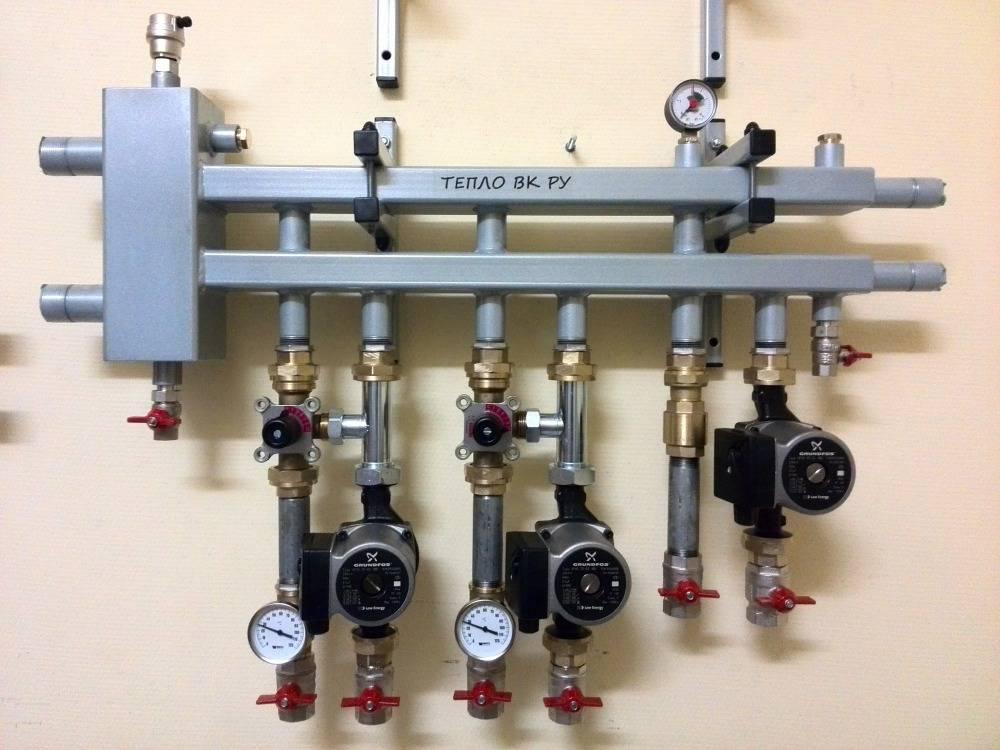 Коллекторная схема разводки системы отопления. преимущества