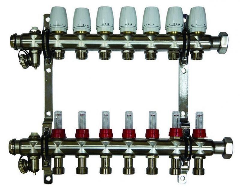 Коллекторы для отопления: расчет, схема установки и монтаж коллектора своими руками в систему, фото и видео