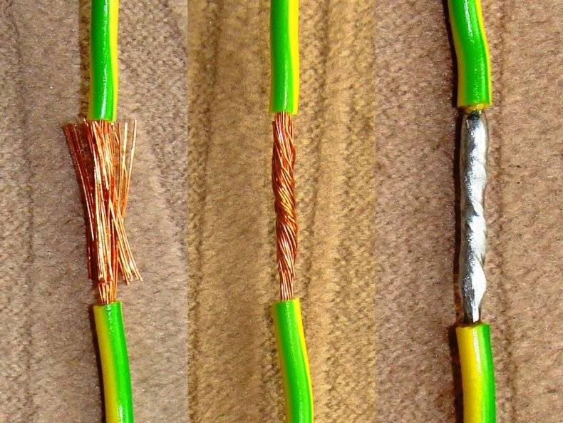 Скрутка из 5 проводов. как правильно соединить многожильный провод с одножильным