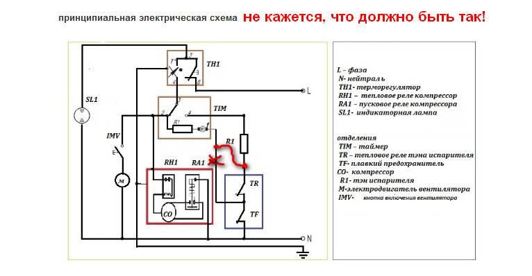 Схема холодильника