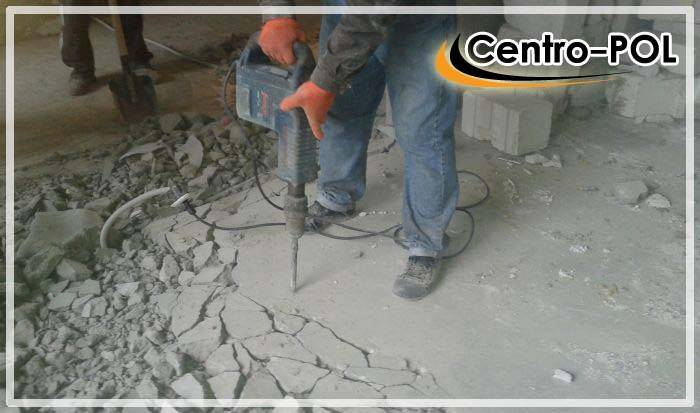 Демонтаж стяжки — методы, особенности и как самому сделать демонтаж старой цементной стяжки пола