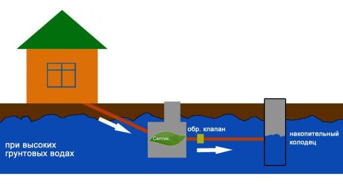 Септик для высоких грунтовых вод: лучшие модели + способы определения угв | отделка в доме