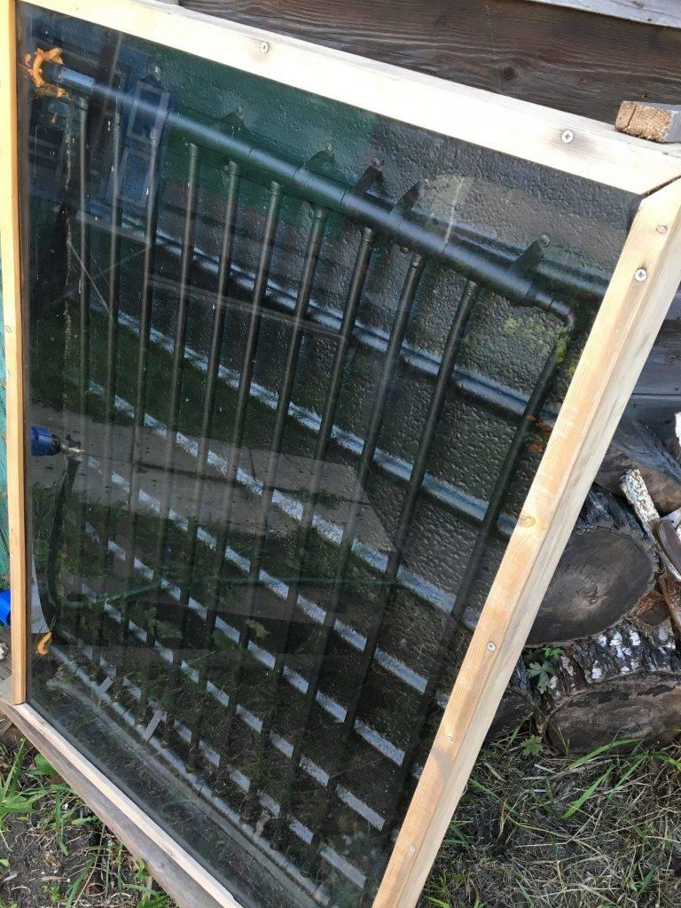 Самодельный солнечный коллектор для нагрева воды своими руками