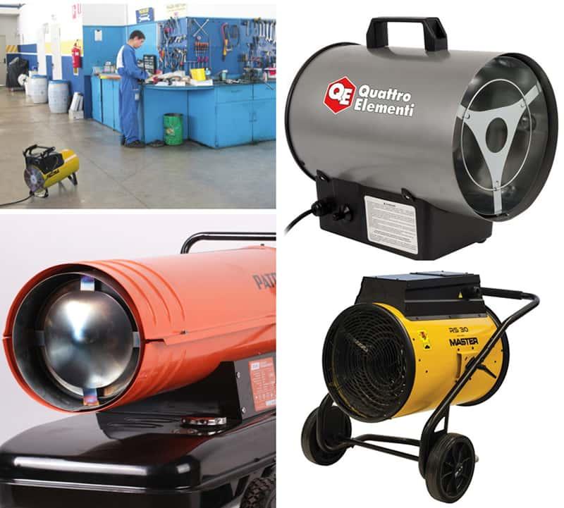 Принцип работы и правила выбора тепловой пушки на газу
