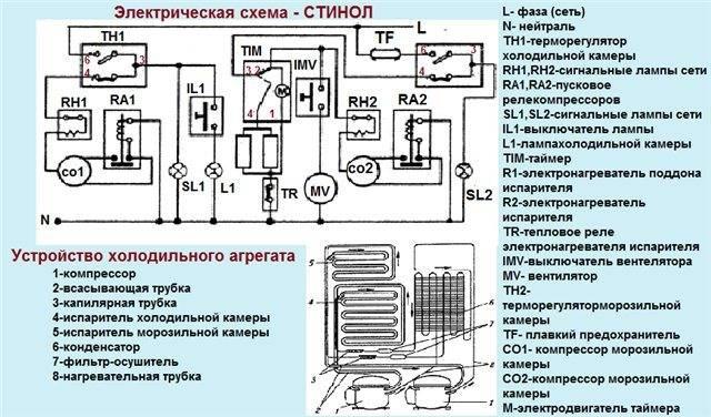 Пусковое реле для холодильника: принцип работы и схемы подключения