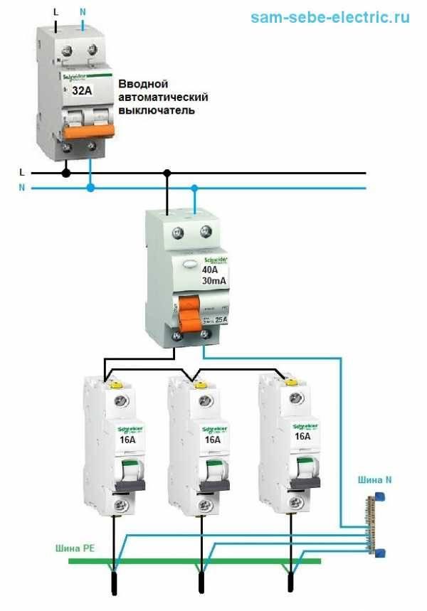 Схема подключения автоматов - tokzamer.ru