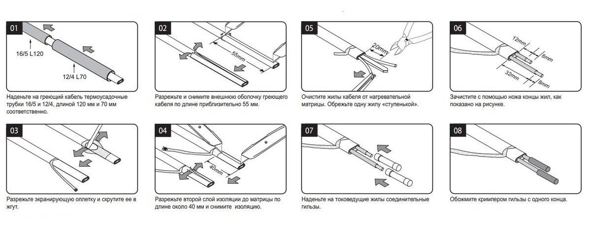 Монтаж греющего кабеля внутри трубы: пошаговый инструктаж + рекомендации по выбору лучшего кабеля